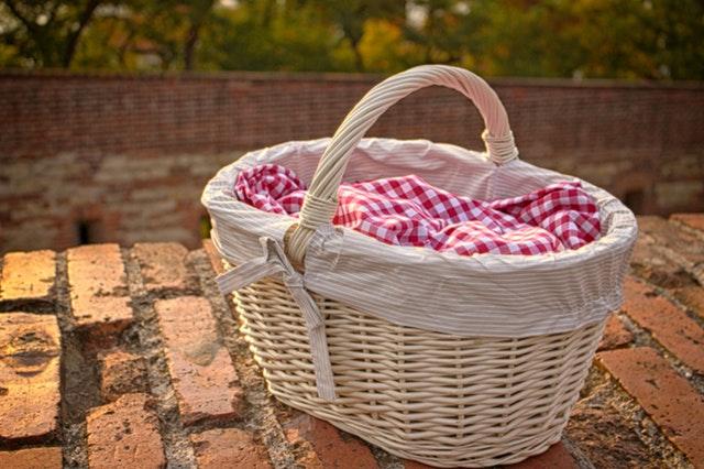 basket brick wall basket
