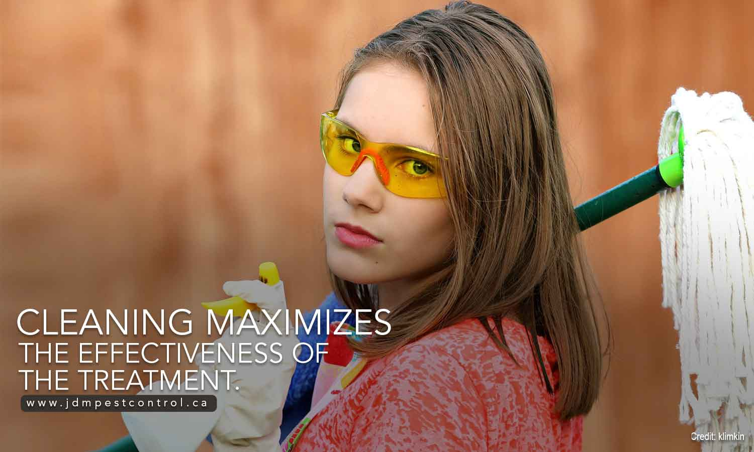 Cleaning maximizes the effectiveness of the treatment.