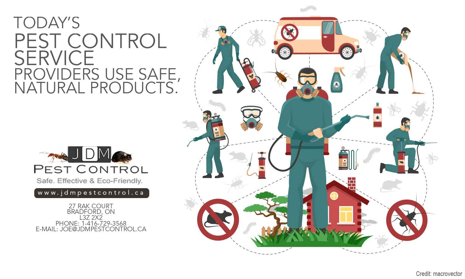 Today's pest control service providers use safe, natural products.