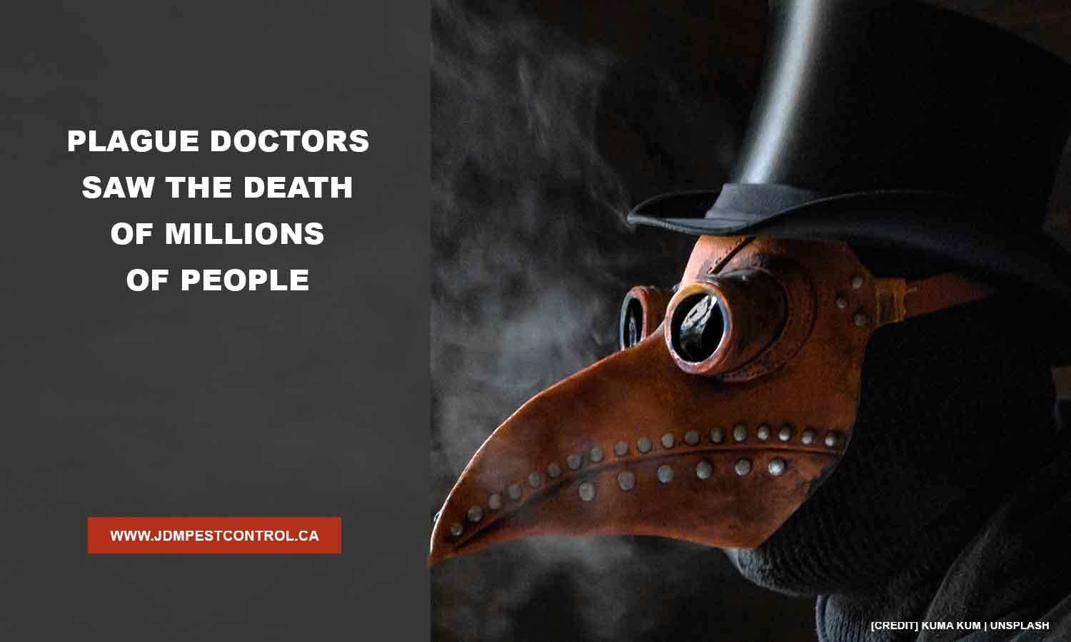 Plague doctors saw the death of millions of people