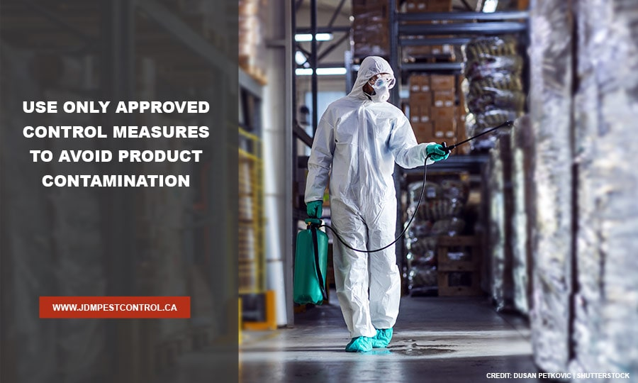 Use-only-approved-control-measures-to-avoid-product-contamination