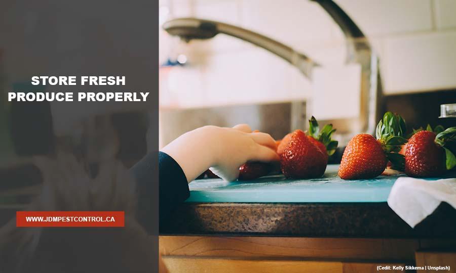 Store fresh produce properly